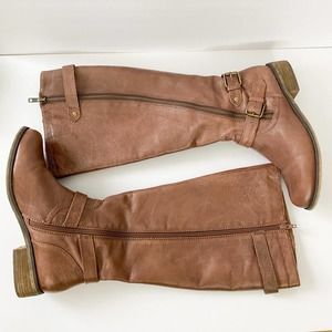 Steve Madden Syniclew Leather Riding Boot sz 9WC